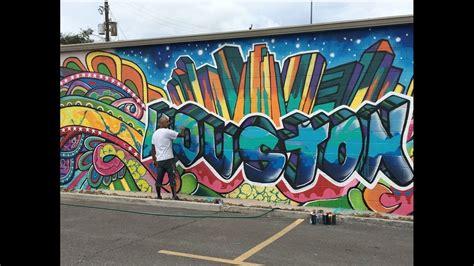 spray paint houston downtown mural vandalized during festival