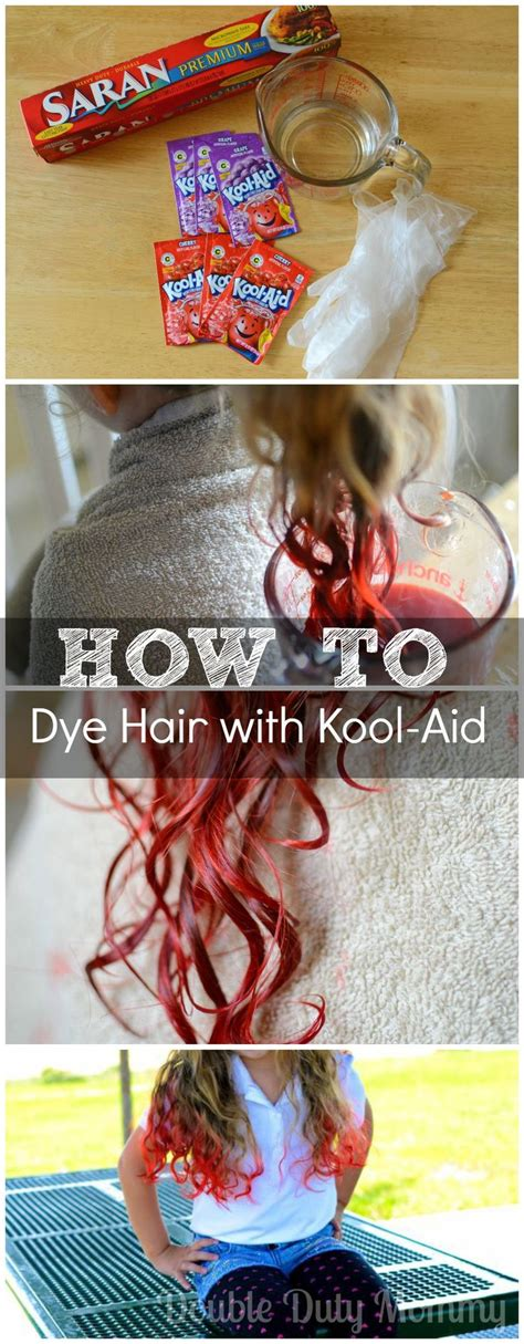 how to color hair with kool aid how to dye your hair with kool aid recipe my hair