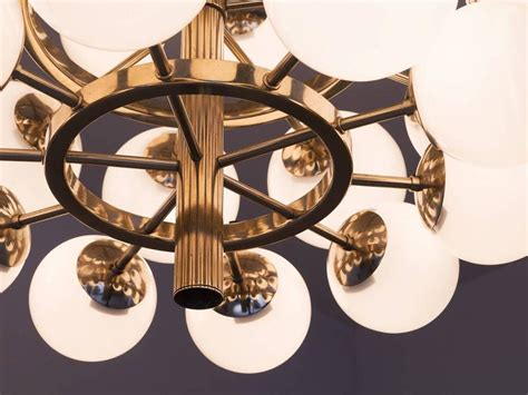 large metal chandelier large metal chandelier with opaline glass spheres for sale