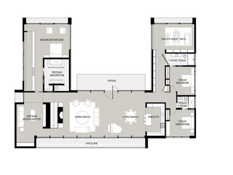 u shaped floor plans with courtyard h shaped house plans australia