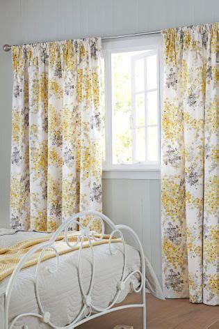 grey patterned pencil pleat curtains ochre watercolour floral pencil pleat lined curtains pale