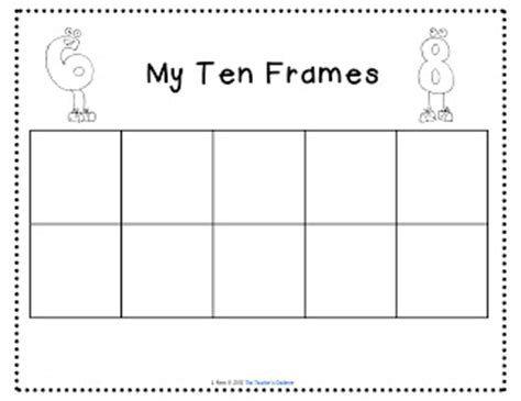 ten frame template ten frame printable new calendar template site