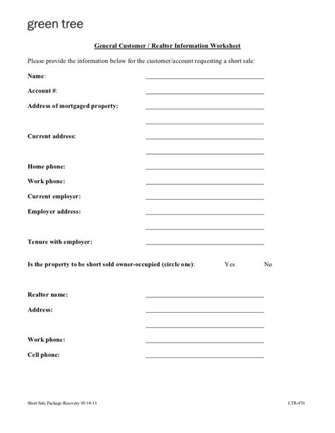 Car Dealer Worksheet by Greentree Sale Package
