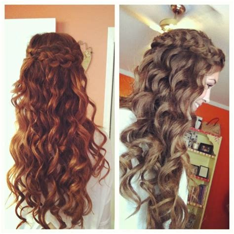 homecoming hairstyles down with braids love the braided half up half down look foxy locks