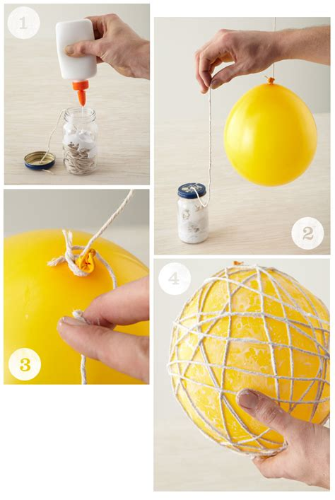 String Balloon - diy hanging string balls honest to nod