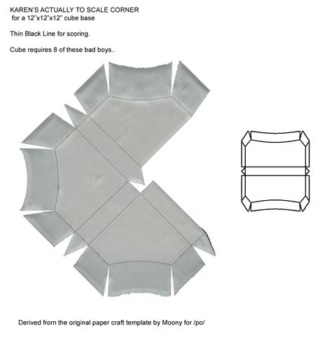 Companion Cube Papercraft - how to make a companion cube from portal