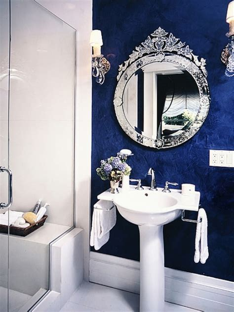 blue bathroom mirror 67 cool blue bathroom design ideas digsdigs
