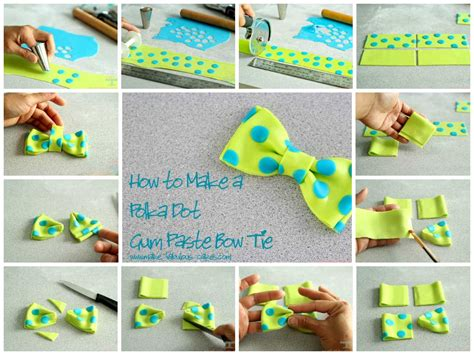 how to make bow ties how to make a polka dot gum paste bow tie