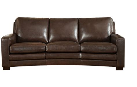 Sofa Leather Brown Joanna Top Grain Brown Leather Sofa
