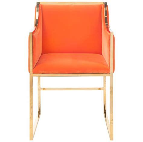 hollywood regency chair anastasia hollywood regency orange velvet brass frame