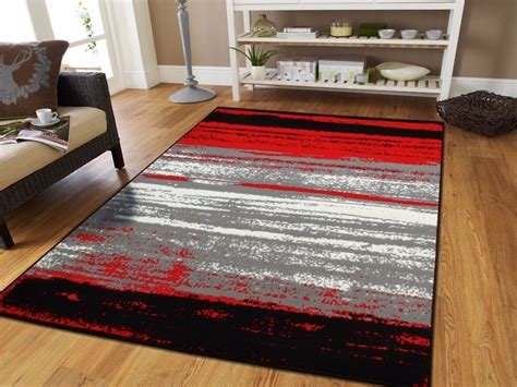 Modern Rugs 8x10 Large Grey Modern Rugs For Living Room 8x10 Abstract Area Rug Black Gray 5x7 Ebay