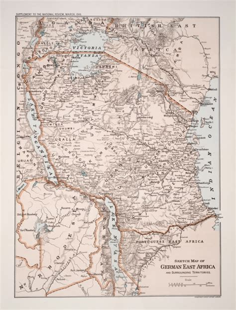 a sketch of africa map sketch map of german east africa and surrounding