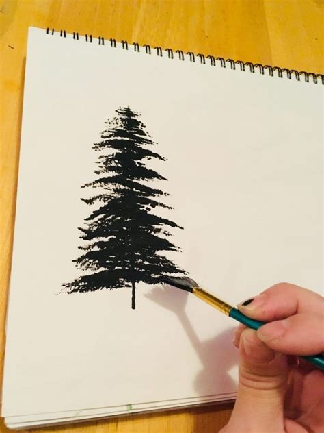 fan brush painting painting trees with a fan brush by acrylic