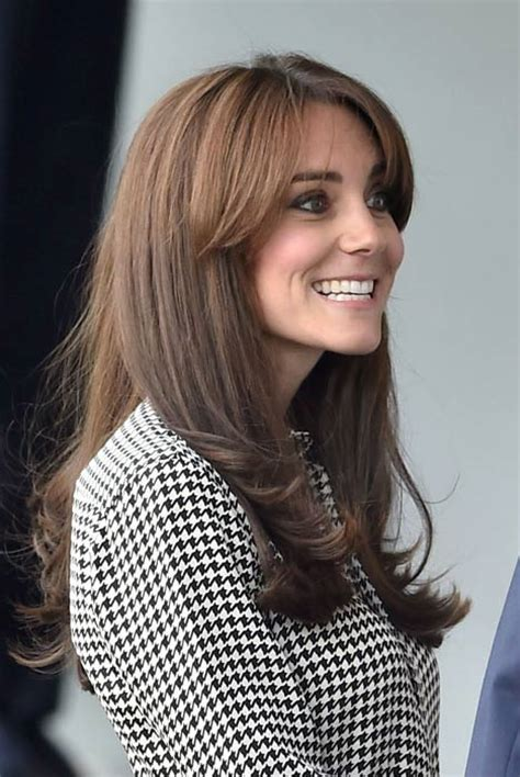 duchess kate shows off her new hairstyle picture the kate middleton makes first solo public engagement after