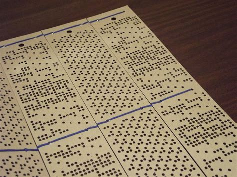 Coverlet Punch Cards 19th Century Coverlet Technology The Mccarl