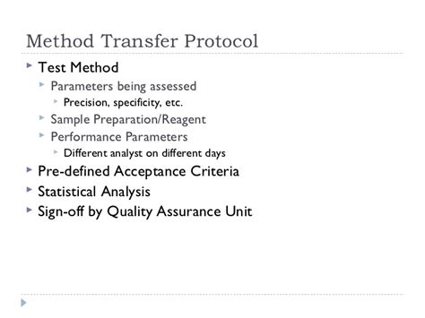 Monograph Changes Analytical Method Transfer Protocol Template
