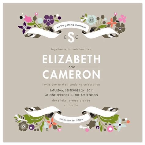 Wedding Invitation Banner Design by Wedding Invitations Banner And Branches At Minted