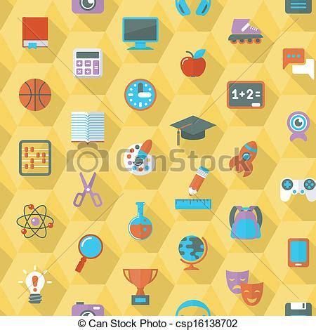 flat pattern en francais vector clipart of school hexagon pattern seamless