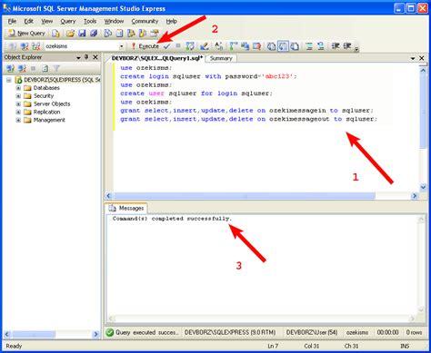 xp tutorial creating a database createuser asp