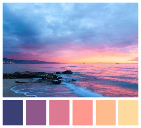 sunset color palette 2019的sunset color palette 色票 sunset color palette