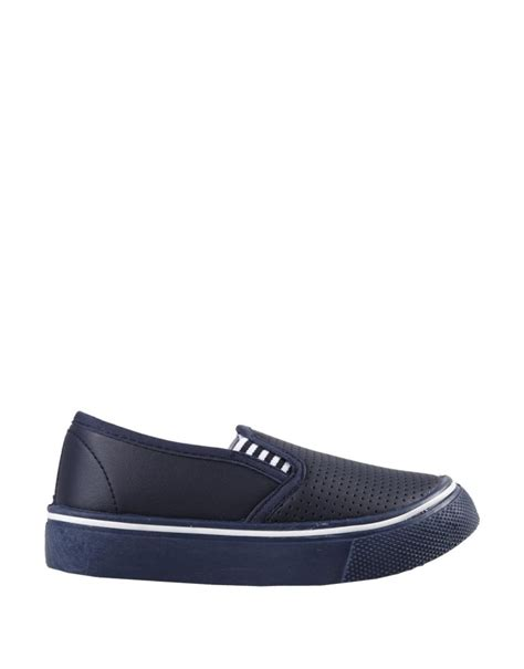 boys slip on sneakers perforated slip on sneakers younger boy woolworths co za