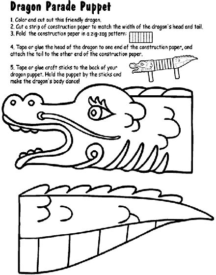 chinese new year coloring pages activity dragon parade puppet coloring page crayola com