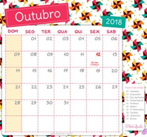 Calendario Outubro De 2018 Calend 225 Bonifrati 2018