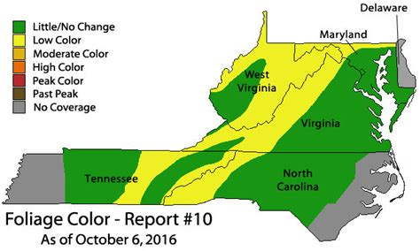 maryland foliage map fall foliage maryland map 2016