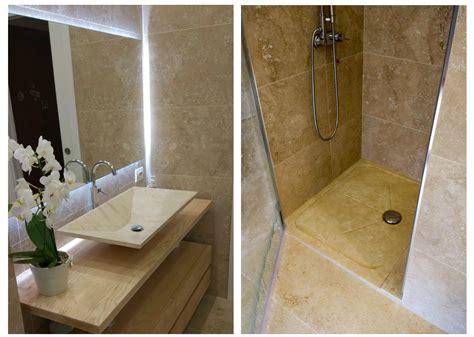 piatto doccia travertino lavandino e piatto doccia in travertino