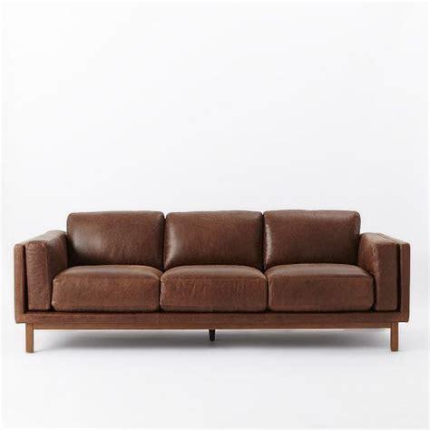 york sofa west elm dekalb leather sofa grand