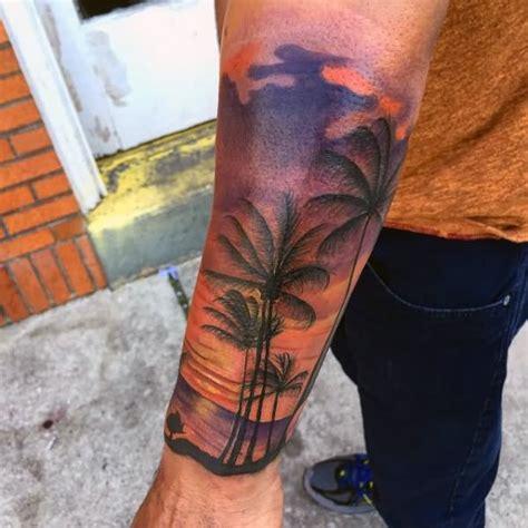 palm tree sleeve tattoo designs 61 amazing palm tree tattoos