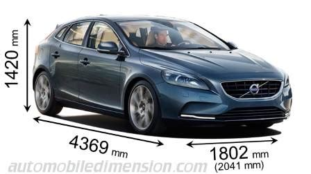 dimensions  volvo cars showing length width  height