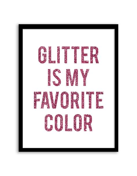 my favorite color is glitter glitter is my favorite color wall pink chicfetti