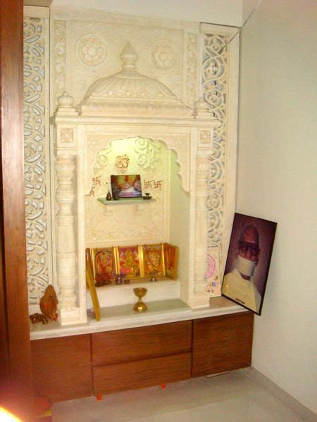 temple decoration ideas for home puja room in modern indian apartments puja rooms ideas