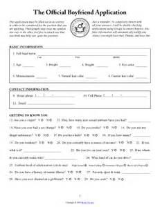 boyfriend printable application fill online printable