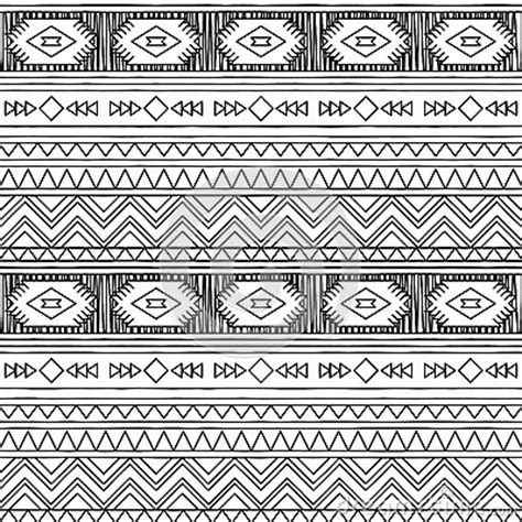 doodle tribal black and white doodle style seamless tileable tribal