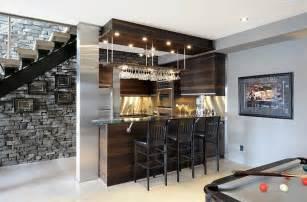 27 Basement Bars That Bring Home The Good Times Modern Basement Corner Bar
