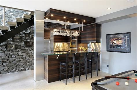 Home Bar Designs 27 Basement Bars That Bring Home The Times