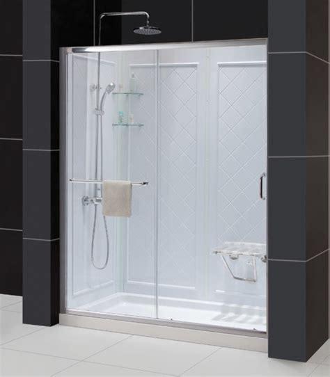 32x60 Shower Pan by Infinity Z Frameless Sliding Shower Door 32x60 Shower