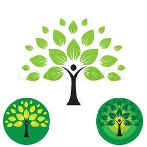 symbol of growth human life logo icon of abstract people tree vector this design represents eco friendly green