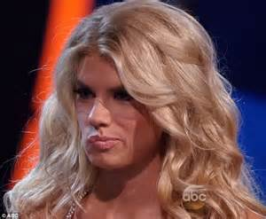 who was the blonde in dwts carl s jr model charlotte mckinney on gma after being