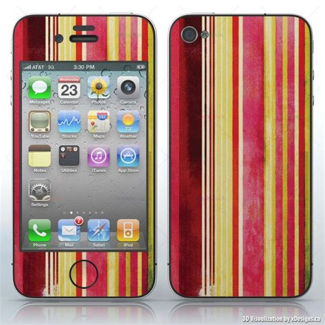 Garskin Iphone 6 Black Matte Yellow Lemon cinnamon and lemon pink yellow and stripes cell phones apple iphone 4 4s 4g decal
