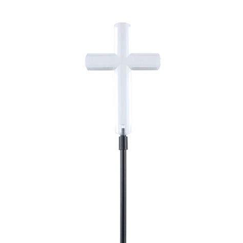 solar light cross for moonrays clear cross solar powered led stake light 93243