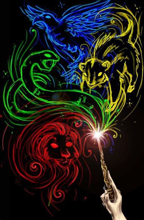harry potter art harry potter and hogwarts houses on