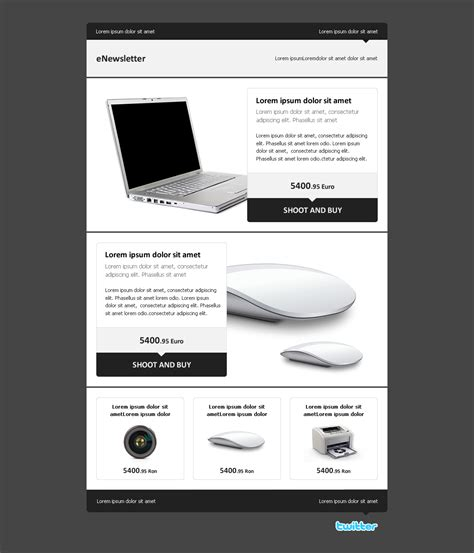 Enewsletter A Clean Email Template By Advolocaru Themeforest Edm Email Template