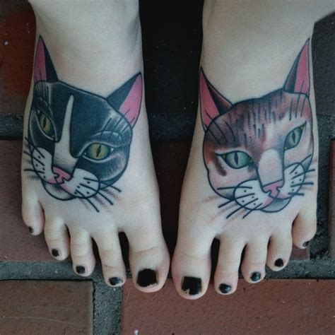 cat foot tattoo designs cat tattoos