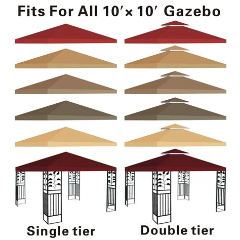 patio gazebo replacement covers gazebo canopy replacement covers 10x10 bloggerluv