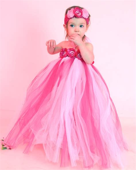 Qibao Pink Dress Tutu items similar to pink tutu dress baby tutu flower for pictures available