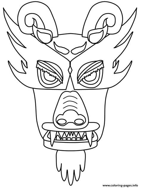 coloring pages of dragon faces chinese dragon face coloring pages printable