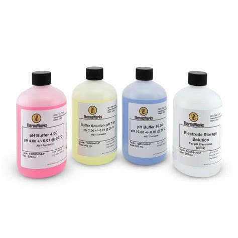 thermoworks ph calibration buffer solutions